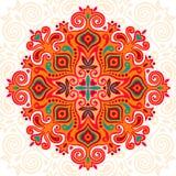 Мандала цветка Абстрактный элемент для конструкции иллюстрация штока