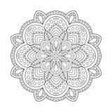Мандала элемента дизайна для страницы книжка-раскраски Стоковое фото RF
