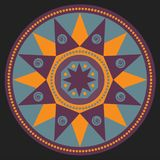 Мандала, этническое simbol Стоковое Изображение