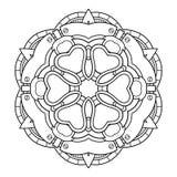 Мандала Monochrome вектора Этнический декоративный элемент иллюстрация штока