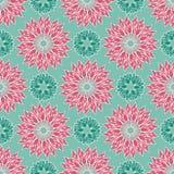 Мандалы лотоса флористические конструируют в современном красочном элегантном стиле Безшовная картина повторения вектора бесплатная иллюстрация