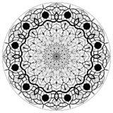 Мандалы цветка декоративный сбор винограда элементов Восточная картина, иллюстрация вектора иллюстрация штока