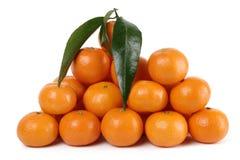 мандарины вороха Стоковое Изображение RF