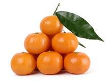 мандарины вороха Стоковые Изображения