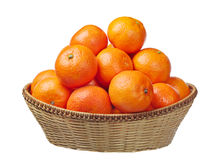 мандарины корзины Стоковые Фотографии RF