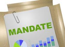МАНДАТ - договорная концепция бесплатная иллюстрация