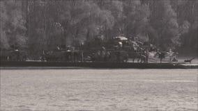 Маневры armored блоков - моста понтона сток-видео