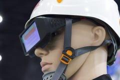 манекены с шлемом и застекленным солнцезащитным щитком безопасности Стоковая Фотография RF