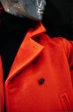 Манекен в красном пальто Стоковая Фотография RF
