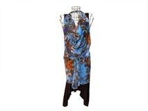 манекен платья флористический стоковая фотография