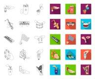 Манипуляция планом рук, плоскими значками в установленном собрании для дизайна Сеть запаса символа вектора движения руки бесплатная иллюстрация