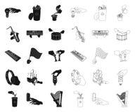 Манипуляция руками черными, значками плана в установленном собрании для дизайна Сеть запаса символа вектора движения руки бесплатная иллюстрация