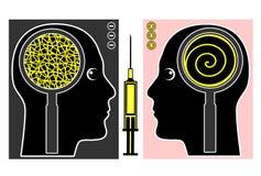 Манипуляция мозга Стоковая Фотография RF