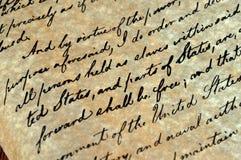 манифест Линколььаа об освобождении рабов Стоковые Фотографии RF