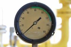 Манометр для измеряя давления в системе, процесса нефти и газ использовал манометр для того чтобы контролировать условие давления Стоковое Изображение RF