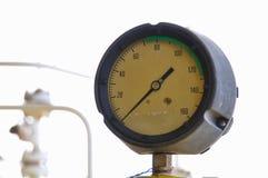 Манометр для измеряя давления в системе, процесса нефти и газ использовал манометр для того чтобы контролировать условие давления Стоковое Изображение