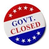 мантия Закрытая кнопка кампании стоковая фотография rf