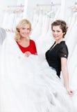 мантия невесты готовая для того чтобы попробовать wedding Стоковое Изображение