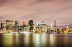 Манхаттан в Нью-Йорке, США Стоковые Изображения RF