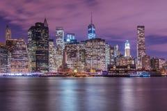 Манхаттан в Нью-Йорке, США Стоковые Фотографии RF