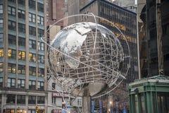 Манхаттан 16-ое декабря 2011 - деталь памятника КРУГА КОЛУМБУСА Стоковое Изображение RF