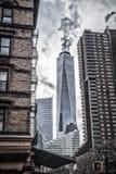 Манхэттен, один всемирный торговый центр стоковые фото