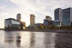 Манчестер, Великобритания - 4-ое мая 2017: Здания города средств массовой информации BBC в Манчестере Стоковое Изображение RF