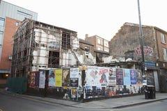 Манчестер, Великобритания - 10-ое мая 2017: Строя быть сокрушенным в центре Manchester City Стоковое Изображение RF