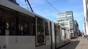 Манчестер Metrolink сток-видео
