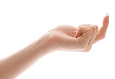 манящ женскую руку кто-то Стоковое Фото