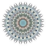 Мандала акварели абстрактная с стилизованными пер Стоковые Фото