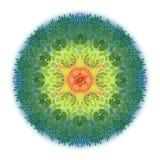 Мандала акварели иллюстрации Стоковая Фотография