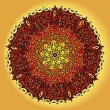 Мандала вектора нарисованная рукой этническая Стоковое Изображение