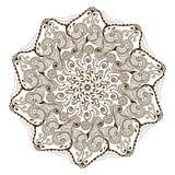 Мандала вектора флористическая в индийском стиле Цветок ornamental Mehndi Стоковое Изображение