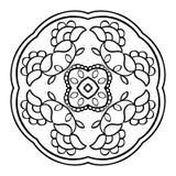 Мандала вектора флористическая Стоковые Изображения RF