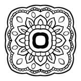 Мандала вектора флористическая Стоковые Фотографии RF