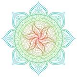 мандала вектор орнамента иллюстрации eps 8 кругов Стоковые Фото