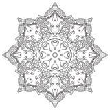 мандала Винтажная круглая картина орнамента Исламский, арабский, индийский Стоковая Фотография RF