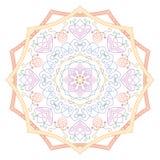 мандала Винтажная круглая картина орнамента Исламский, арабский, индийский Стоковое Изображение RF