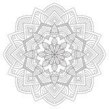 мандала Винтажная круглая картина орнамента Исламский, арабский, индийский Стоковое фото RF