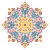 мандала Винтажная круглая картина орнамента Исламский, арабский, индийский Стоковая Фотография