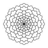 мандала Винтажная круглая картина орнамента Исламский, арабский, индийский Стоковые Фото