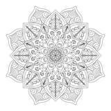 мандала Винтажная круглая картина орнамента Исламский, арабский, индийский Стоковое Фото
