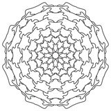 мандала Винтажная круглая картина орнамента Исламский, арабский, индийский Стоковые Изображения