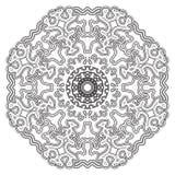 мандала Винтажная круглая картина орнамента Исламский, арабский, индийский Стоковое Изображение