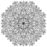 мандала Винтажная круглая картина орнамента сказовый цветок мусульманство Стоковая Фотография