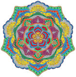 Мандала в цвете иллюстрация штока