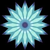 Мандала голубой звезды фрактали форменная Стоковые Изображения RF