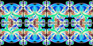 мандала Декоративная картина шнурка Стоковое фото RF