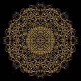 Мандала золота Стоковые Фото